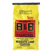B & B Texas Style Mesquite Lump Charcoal
