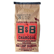 B & B Texas Style Oak Lump Charcoal