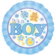 Baby Boy 18 Inch Single Balloon
