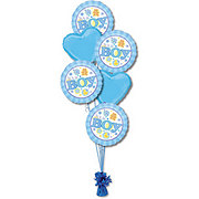Baby Boy Half Dozen Balloon Bouquet