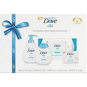 Baby Dove Gift Set With Baby Wash and Shampoo, Lotion, Wipes and Bar Baby Essentials