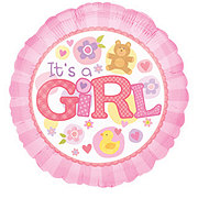 Baby Girl 18 Inch Single Balloon