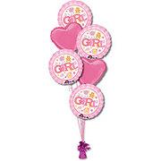 Baby Girl Half Dozen Balloon Bouquet