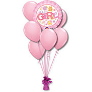 Baby Girl Small Balloon Bouquet
