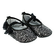 Baby Shoes & Sandals Soft Sole Black Glitter Flat Shoes