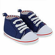 Baby Shoes & Sandals Soft Sole Navy High Top Shoes