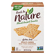 Back to Nature Gluten Free Rice Thin Multi-Seed Crackers