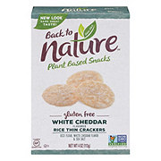 Back to Nature Gluten Free Rice Thins White Cheddar