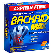 Backaid Max Aspirin Free Muscle Pain Relief Tablets