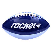 Baden Mini Glossy Football Dark Blue/ Metallic Silver