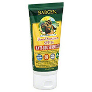 Badger Anti-Bug Broad Spectrum SPF 34 Citronella and Cedar Sunscreen