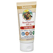 Badger Broad Spectrum SPF 34 Unscented Sunscreen