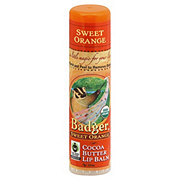Badger Sweet Orange Cocoa Butter Lip Balm