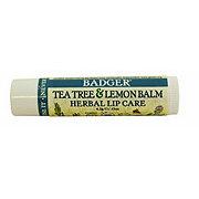 BADGER Tea Tree And Lemon Lip Balm