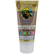 Badger Tinted Unscented Sunscreen Cream SPF 30