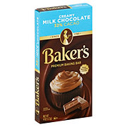 Baker's Creamy Milk Chocolate Premium Baking Bar