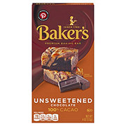 Baker's Unsweetened 100% Cacao Baking Chocolate Bar