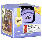Ball Design Series Lids and Bands Purple