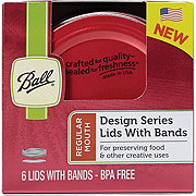 Ball Design Series Lids and Bands Red