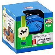Ball Elite Color Series, Regular Mouth Lids & Bands, Blue