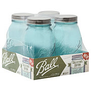 Ball Vintage Aqua Quart Jars