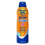 Banana Boat Sport Cool Zone Clear Spray Sunscreen Broad Spectrum SPF 50