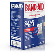 Band-Aid Brand Adhesive Bandages Comfort-Flex Clear Strips Assorted Sizes