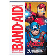 Band-Aid Brand Adhesive Bandages Featuring Marvel Avengers Assorted Sizes