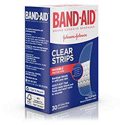 Band-Aid Brand Comfort-Flex Clear Strips Adhesive Bandages