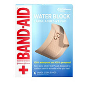 Band-Aid Brand First Aid Large Waterproof Pads