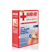 Band-Aid Brand First Aid Medium All-in-One Adhesive Gauze Pad