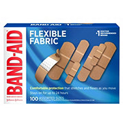 Band-Aid Brand Flexible Fabric Adhesive Bandages Assorted Sizes