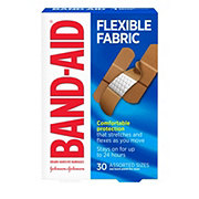 Band-Aid Brand Flexible Fabric Comfortable Assorted Adhesive Bandages