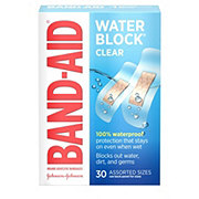 Band-Aid Brand Water Block Plus Adhesive Bandages Assorted Sizes