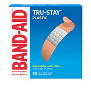 Band-Aid Plastic Strips All One Size Adhesive Bandages