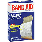 Band-Aid Sheer Strips Extra Large Adhesive Bandages