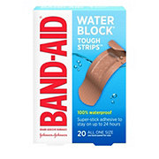 Band-Aid Tough Strips Waterproof All One Size Adhesive Bandages