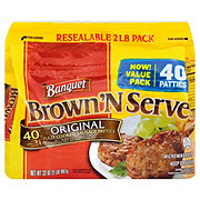 Banquet Brown 'N Serve Fully Cooked Original Sausage Patties