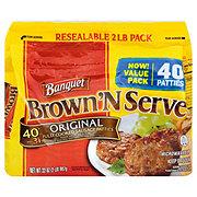 Banquet Brown 'N Serve Fully Cooked Original Sausage Patties