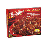Banquet Family Size Barbeque Sauce and Boneless Pork Riblet Dinner