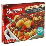 Banquet Family Size Gravy, Potatoes and Vegetables with Salisbury Steak