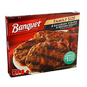 Banquet Salisbury Steaks & Brown Gravy Family Size