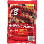 Bar S Jumbo Jumbos Quarter Pound Franks Family Pack