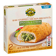 Barber Foods Breaded Raw Broccoli and Cheese Stuffed Chicken Breasts