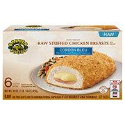 Barber Foods Breaded Raw Cordon Bleu Stuffed Chicken Breasts