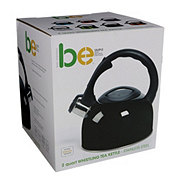 Basic Essentials Whistling 2 Quart Tea Kettle, Black