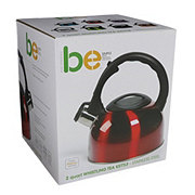 Basic Essentials Whistling 2 Quart Tea Kettle, Red