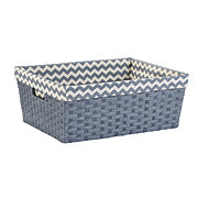 Basketville Gray Tuckaway Paper Rope Basket