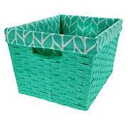 Basketville Small Turquoise Paper Rope Basket