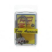 Bass Assassin Lead/Red Eye 1/8 OZ Spring Lock Jighead Lure